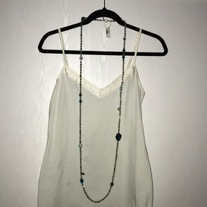 Chico's Teal Stone Single-Strand Necklace NWT